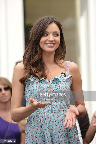 Victoria's Secret model Miranda Kerr visits Extra at The Grove on May 12 2011 in Los Angeles California