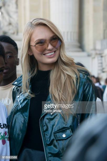 Victoria's Secret model Romee Strijd day 5 of Paris Womens Fashion Week Spring/Summer 2018 on September 30 2017 in London England
