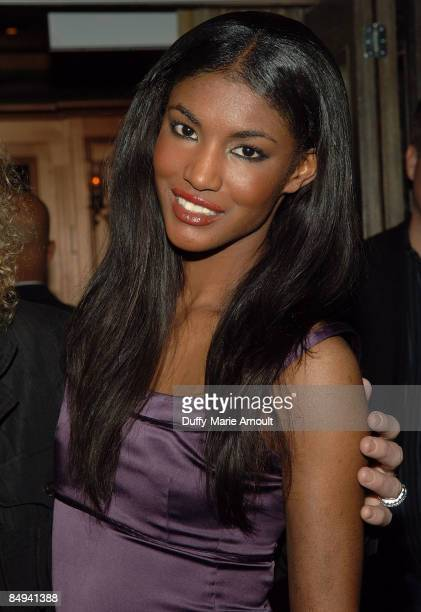 Victoria's Secret model Sessilee Lopez attends the Yellow Fever launch party at RdV on February 19 2009 in New York City
