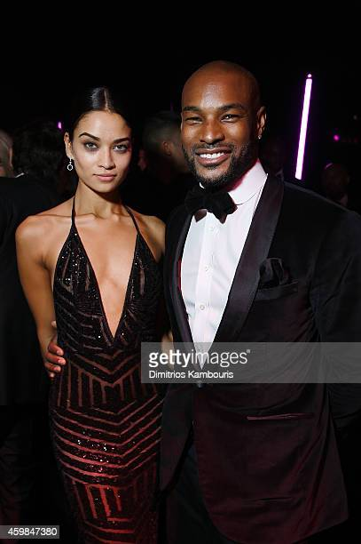 Victoria's Secret model Shanina Shaik and Tyson Beckford attend the 2014 Victoria's Secret Fashion Show After Party on December 2 2014 in London...