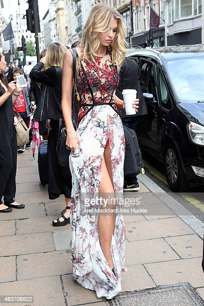 Victoria's Secret model Stella Maxwell seen leaving the Victoria's Secret store on New Bond Street on August 12 2015 in London England