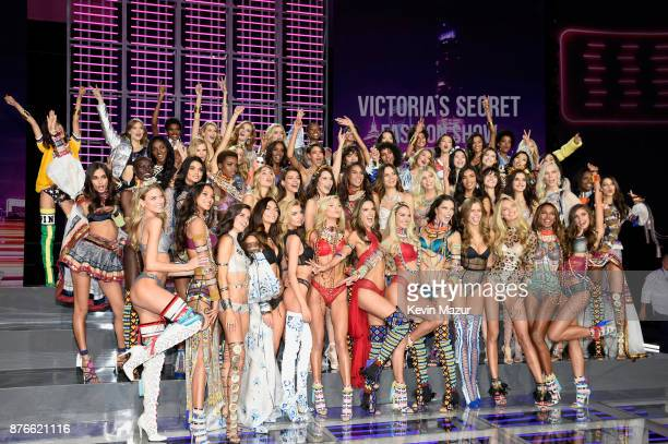 Victoria's Secret models Adriana Lima, Alessandra Ambrosio, Candice Swanepoel, Elsa Hosk, Jasmine Tookes, Josephine Skriver, Lais Ribeiro, Lily...