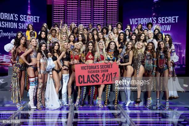 Victoria's Secret models Adriana Lima Alessandra Ambrosio Candice Swanepoel Elsa Hosk Jasmine Tookes Josephine Skriver Lais Ribeiro Lily Aldridge...