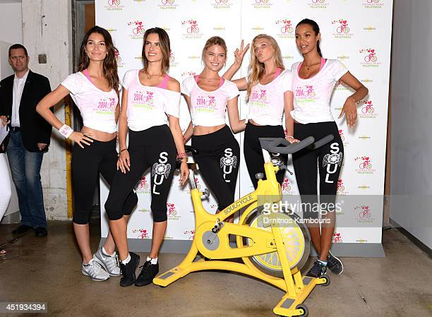 Victoria's Secret models Lily Aldridge Alessandra Ambrosio Martha Hunt Elsa Hosk and Lais Ribeiro attendVictoria's Secret Angel Supermodel Cycle For...