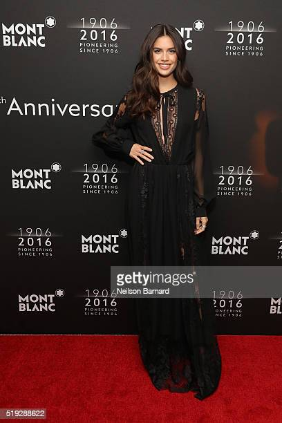 Victoria's Secret Models Sara Sampaio attends the Montblanc 110 Year Anniversary Gala Dinner on April 5 2016 in New York City