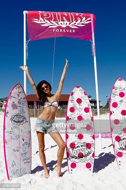 Victoria's Secret PINK Model Sara Sampaio host PINK Nation Spring Break Beach Party on March 13 2014 in Destin Florida