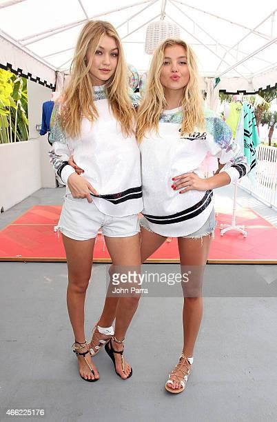 Victoria's Secret PINK models Gigi Hadid and Rachel Hilbert attend the Ultimate Spring Break Bash hosted by Victoria's Secret PINK Nation at...