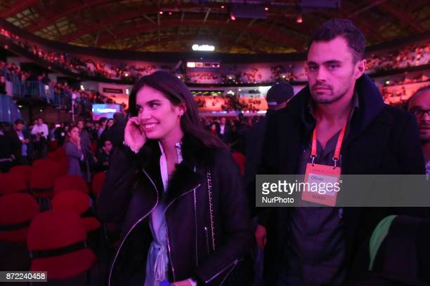 Victoria's Secret Portuguese Model Sara Sampaio and her boyfriend Oliver Ripley attend the Web Summit 2017 in Lisbon Portugal on November 9 2017