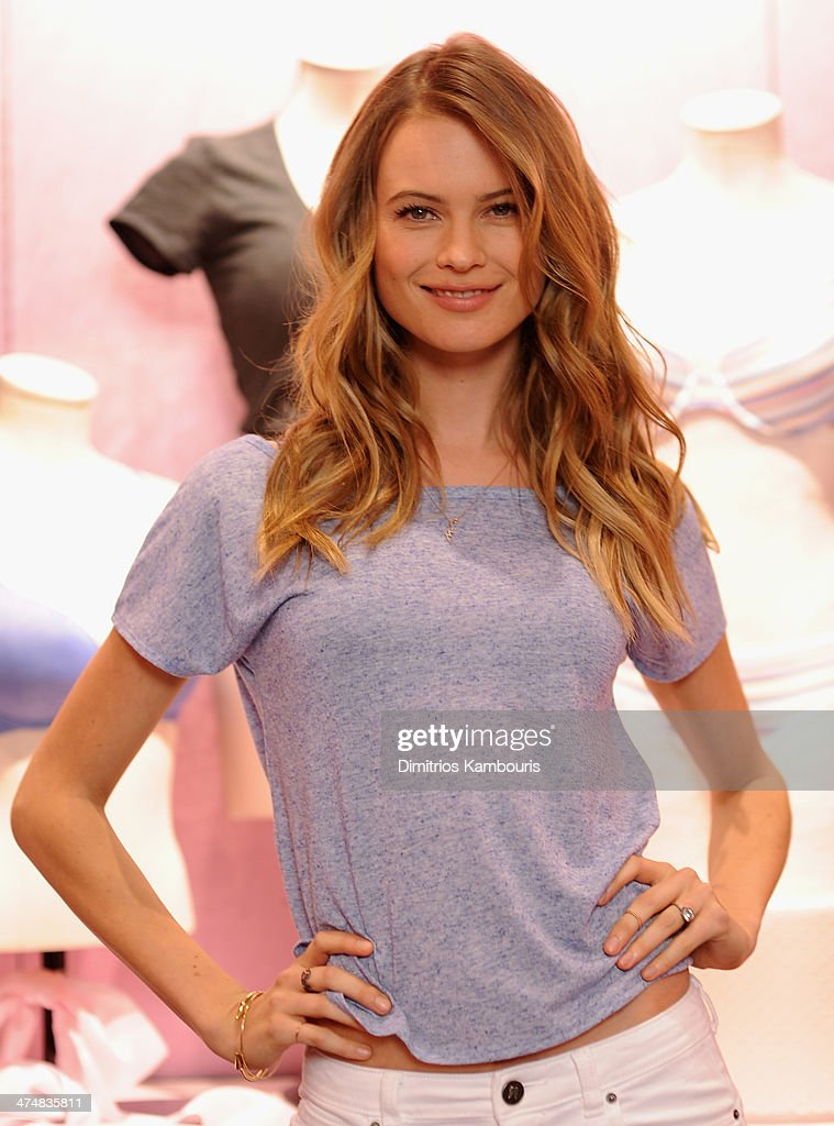 318d92ef68 Victoria s Secret Supermodel Behati Prinsloo Introduces The T-Shirt Bra    News Photo