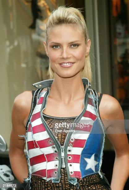 Victoria's Secret supermodel Heidi Klum launches the new Rock Angel lingerie collection at the Victoria's Secret 34th Street flagship store July 22...