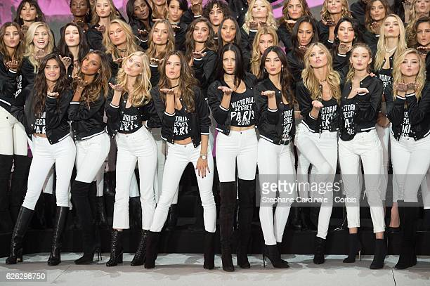 'Victoria's Secret' supermodels Bella Hadid Romee Strijd Josephine Skriver Taylor Hill Lais Ribeiro Elsa Hosk Joan Smalls Kendall Jenner Lily...