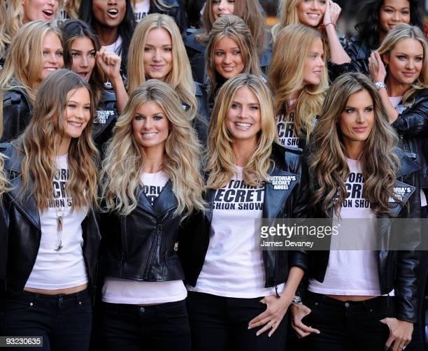 Victoria's Secret Supermodels Doutzen Kroes Marisa Miller Heidi Klum and Alessandra Ambrosio take over Times Square for the Victoria's Secret Fashion...