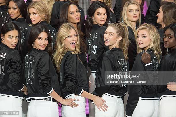 'Victoria's Secret' supermodels Maria Borges Stella Maxwell Joan Smalls Kendall Jenner Lily Donaldson Izabel Goulart Adriana Lima Lily Aldridge...