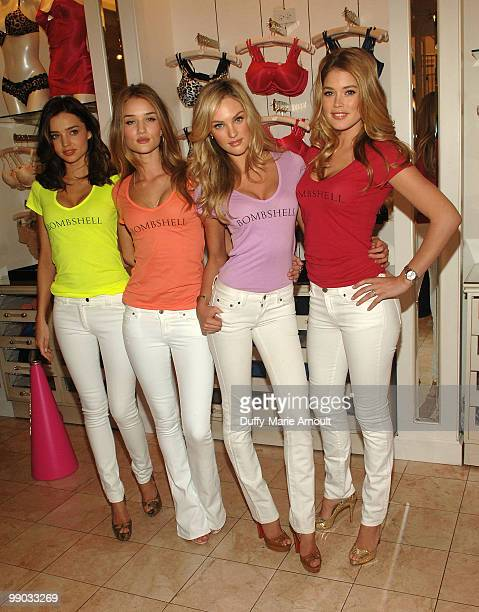 Victoria's Secret Supermodels Miranda Kerr Rosie HuntingtonWhiteley Candice Swanepoel and Doutzen Kroes Share Shopping Secrets Of A Supermodel at The...