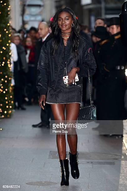 Victoria's Secret Zuri Tibby is seen next to her hotel on November 29 2016 in Paris France