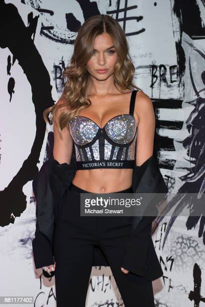 Victoria's Sercret Angel Josephine Skriver attends Victoria's Secret Shop The Runway at Victoria's Secret Fifth Ave on November 28 2017 in New York...
