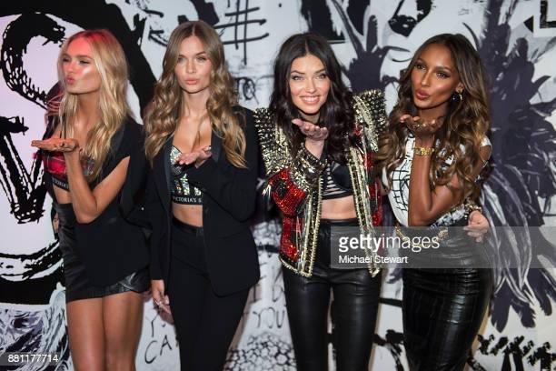 Victoria's Sercret Angels Romee Strijd Josephine Skriver Adriana Lima and Jasmine Tookes attend Victoria's Secret Shop The Runway at Victoria's...