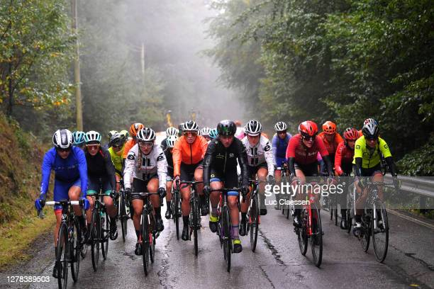 Victorie Guilman of France and Team FDJ Nouvelle - Aquitaine Futuroscope / Leah Kirchmann of Canada and Team Sunweb / Demi Vollering of The...