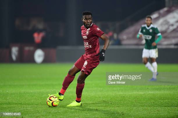 Victorien Angban of Metz during the Ligue 2 match between FC Metz and Red Star FC on December 4 2018 in Metz France