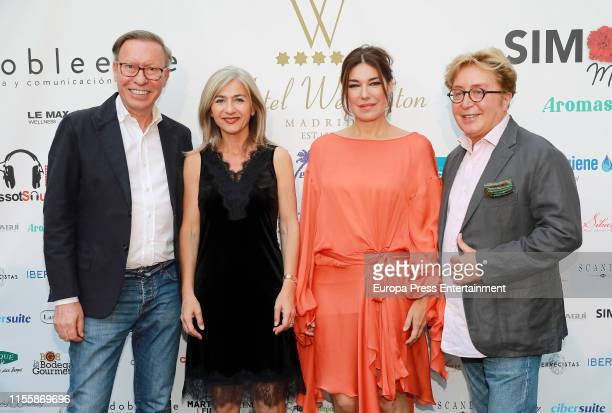 Victorio Lucchino and Raquel Revuelta attend Hotel Wellington Summer Party on June 13 2019 in Madrid Spain