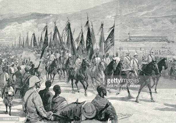 Victorious Agordat troops returning to Keren 1894 Colonial wars Eritrea 19th century