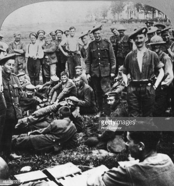 Victors and vanquished from the battle of Menin Road Ypres Flanders Belgium World War I 1917 Fought between 20 and 25 September 1917 the Battle of...