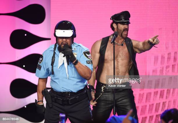 Victor Willis and Jeffrey Lippold of The Village People onstage during the 2017 Streamy Awards at The Beverly Hilton Hotel on September 26 2017 in...