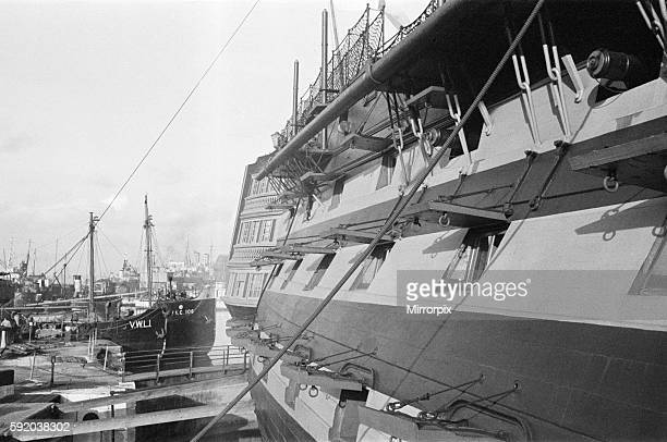 HMS Victory at Portsmouth harbour this photograph was taken in connection with the AngloIraqi Treaty of 1948 or Portsmouth treaty of 1948 which was...