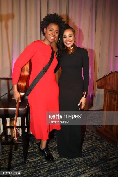 Victory Boyd and Janell Snowden attend the AFUWI 22nd Annual Legacy Awards Gala at The Pierre Hotel on February 27 2019 in New York City