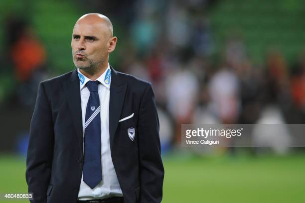 Victory coach Kevin Muscat after 30 loss in the round 13 ALeague match between the Melbourne Victory and Brisbane Roar at AAMI Park on January 4 2014...