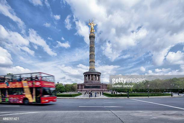 Victory Column in fine weather with clouds