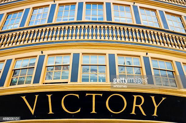 HMS Victory Great Cabin stern windows