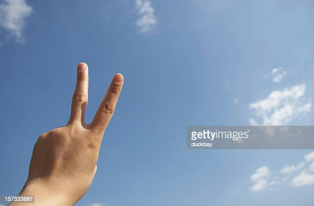 Victory hand