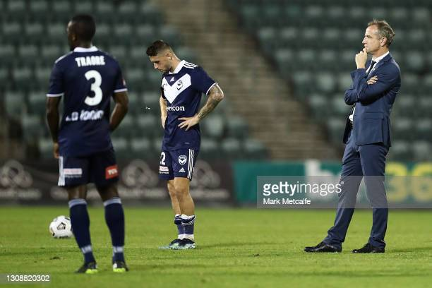 Victory head coach Grant Brebner looks on after defeat during the A-League match between Wellington Phoenix and Melbourne Victory at WIN Stadium, on...
