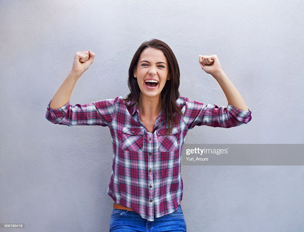 Victory is mine! : Stock Photo