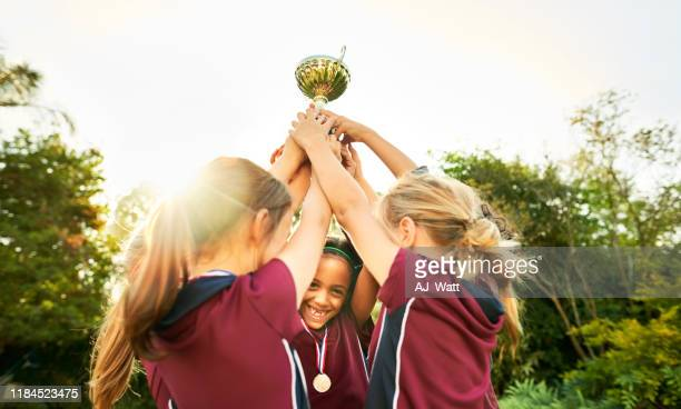 victory is theirs - soccer competition stock pictures, royalty-free photos & images
