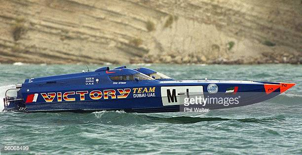 Victory M1 driven by Khalfan Harib and codriven by Ali Nasser Bel Habala in action in the World Offshore Powerboat Champs held in the Waitemata...