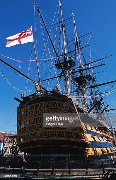 hms victory, naval heritage area. - portsmouth england stock pictures, royalty-free photos & images