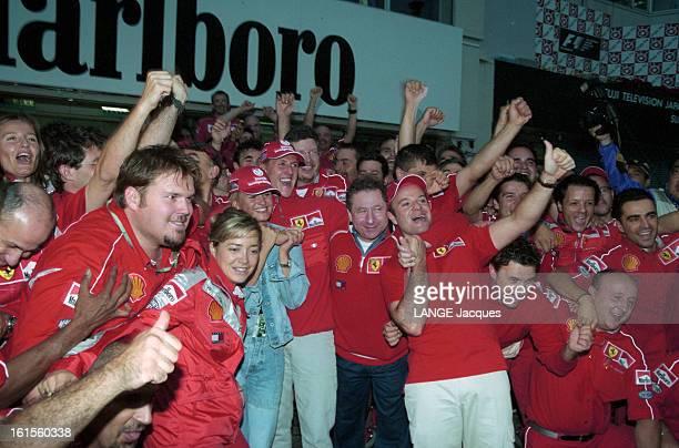 Victory Of Ferrari At Grand Prix Of Japan Formula 1 2000 In Suzuka Grâce à l'allemand Michael SCHUMACHER vainqueur de la course et au français Jean...