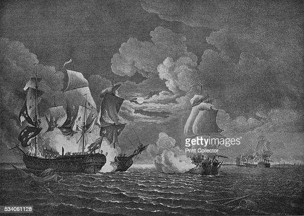 Victory of Paul Jones' from 'Old Naval Prints' by Charles N Robinson Geoffrey Holme 1924 The capture of the British warship HMS 'Serapis' on 23...