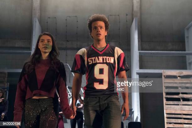 RISE Victory Party Episode 104 Pictured Auli'i Cravalho as Lilette Suarez Damon J Gillespie as Robbie Thorne