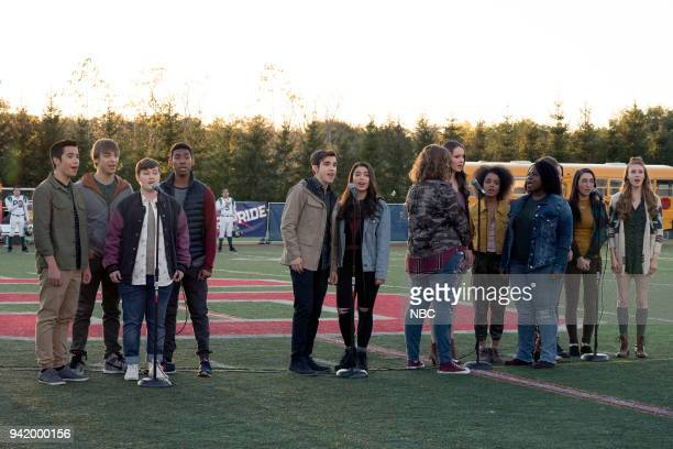 RISE ' Victory Party' Episode 104 Pictured Nacho Tambunting as Francis Sean Grandillo as Jeremy Ellie Desautels as Michael Hallowell Sergio King as...