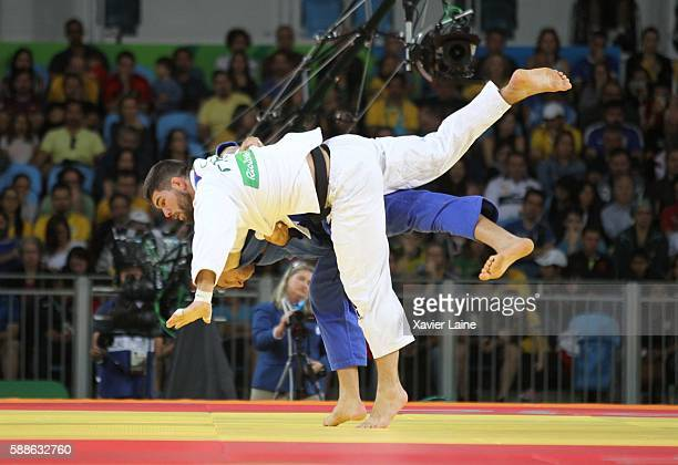 Victory point of Cyrille Maret of France during the semifinal Judo men's 100kgs at Carioca Arena 2 during Day 6 of the 2016 Rio Olympics on August 11...