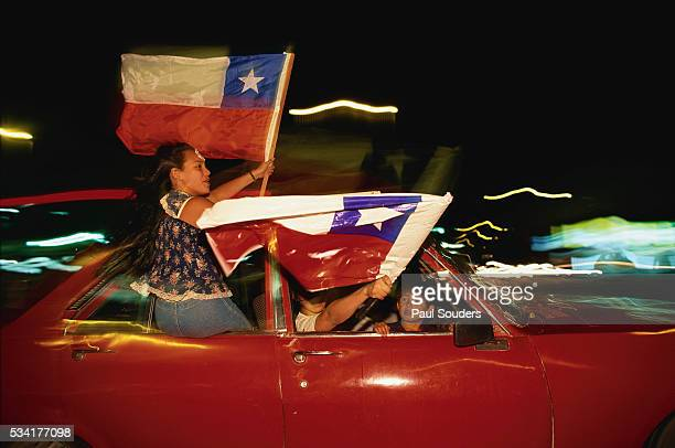Victory Rally for Socialist Ricardo Lagos
