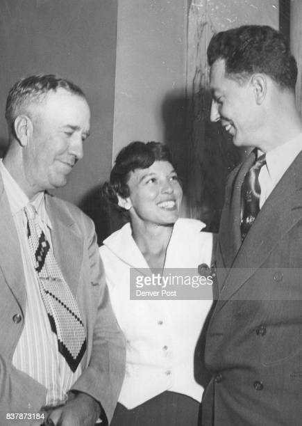 Victory Smile Guards Clinton B Leonard and Terry W Trout share a smile with Mrs Marion Kisner moments after the jury acquitted them in the...