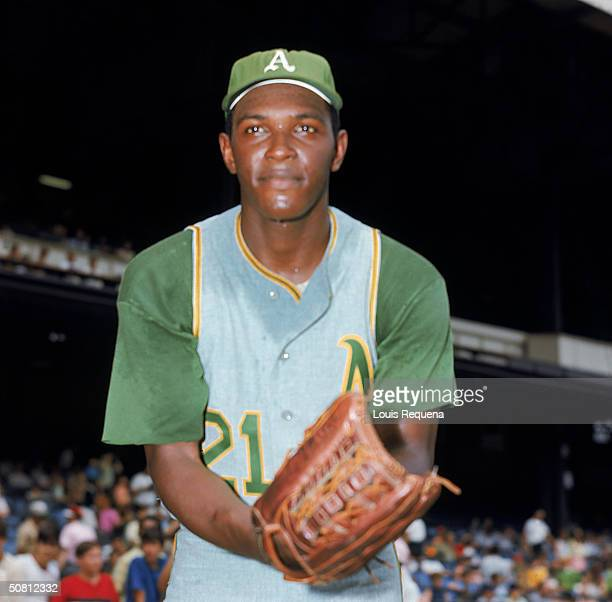 Vida Blue of the Oakland Athletics poses for a 1969 season portrait