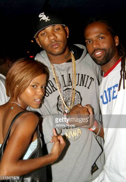 Vida Game and AJ during Mobb Deep Presents 'Amerikaz Nightmare' Album Release at Spirit in New York City New York United States