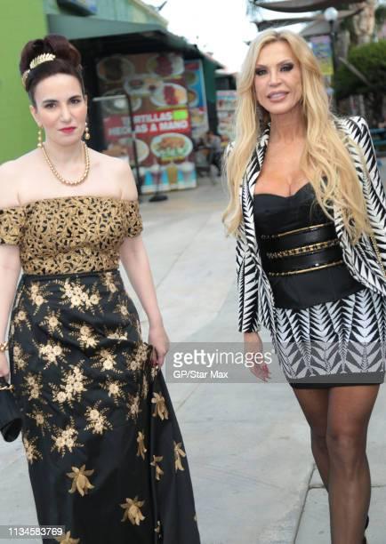 Vida Ghaffari and Amber Lynn are seen on April 02 2019 in Los Angeles California
