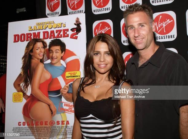 "Vida Guerra and Scott Hillenbrand, director during Vida Guerra In-Store DVD Signing for ""National Lampoon's: Dorm Daze 2"" - September 6, 2006 at..."
