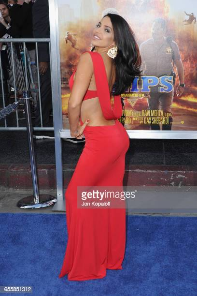 """Vida Guerra arrives at the Los Angeles Premiere """"CHiPS"""" at TCL Chinese Theatre on March 20, 2017 in Hollywood, California."""